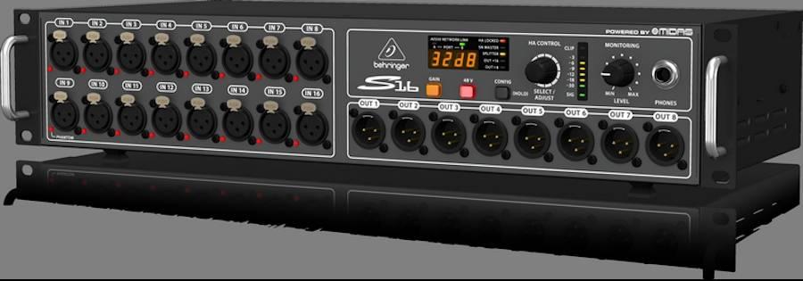 Behringer S16 16 XLR Input / 8 XLR Output Digital Snake Product Image 5
