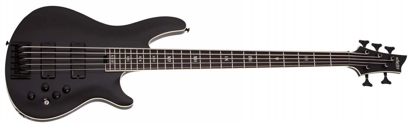 Schecter 1395-SHC SLS Elite-5 Evil Twin RH 5-String Electric Bass-Satin Black  Product Image 2