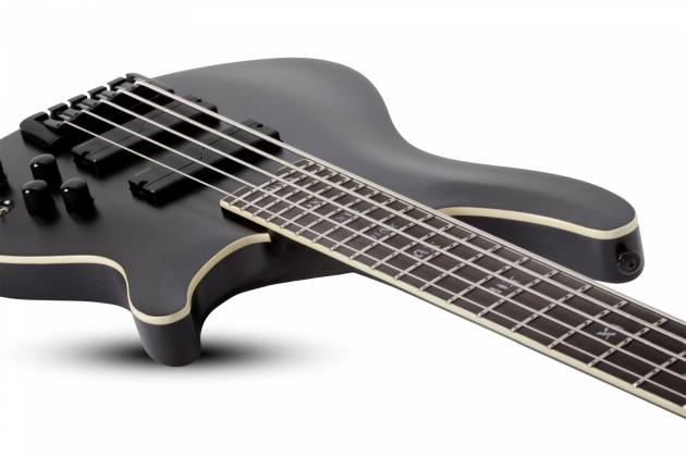 Schecter 1395-SHC SLS Elite-5 Evil Twin RH 5-String Electric Bass-Satin Black  Product Image 5