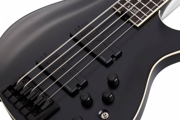 Schecter 1395-SHC SLS Elite-5 Evil Twin RH 5-String Electric Bass-Satin Black  Product Image 10