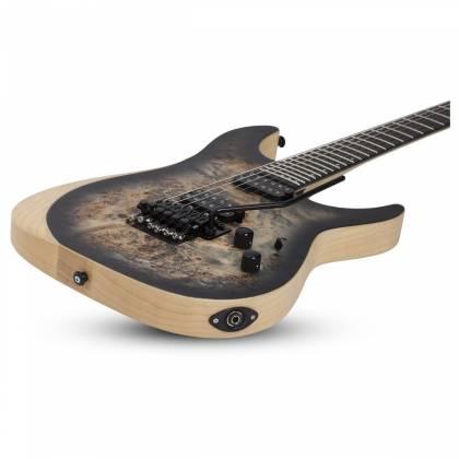 Schecter 1503-SHC Reaper-6 FR 6-String RH Electric Guitar-Satin Charcoal Burst 1503-shc Product Image 4
