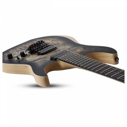 Schecter 1503-SHC Reaper-6 FR 6-String RH Electric Guitar-Satin Charcoal Burst 1503-shc Product Image 6
