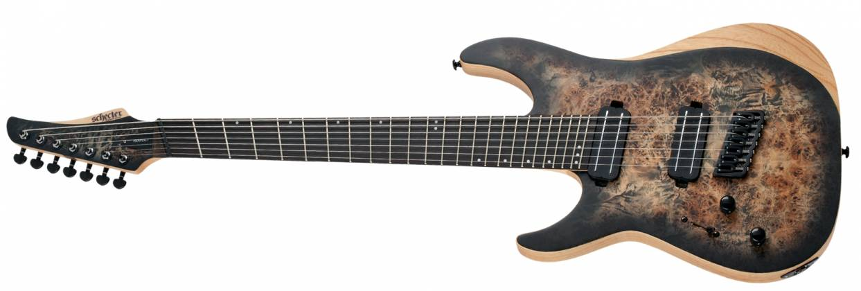 Schecter 1515-SHC Reaper-7 Multi-Scale LH 7-String Electric Guitar-Satin Charcoal Burst Product Image 2