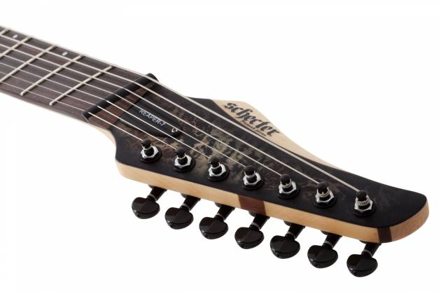 Schecter 1515-SHC Reaper-7 Multi-Scale LH 7-String Electric Guitar-Satin Charcoal Burst Product Image 3
