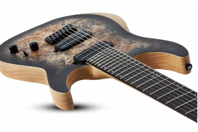 Schecter 1515-SHC Reaper-7 Multi-Scale LH 7-String Electric Guitar-Satin Charcoal Burst Product Image 6
