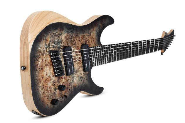 Schecter 1515-SHC Reaper-7 Multi-Scale LH 7-String Electric Guitar-Satin Charcoal Burst Product Image 7