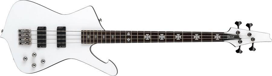 Ibanez SDB3-PW-d Sharlee D'Angelo Signature 4 String Solid Body Bass in Pearl White (discontinued clearance)  (Prior Year Model) Product Image 2