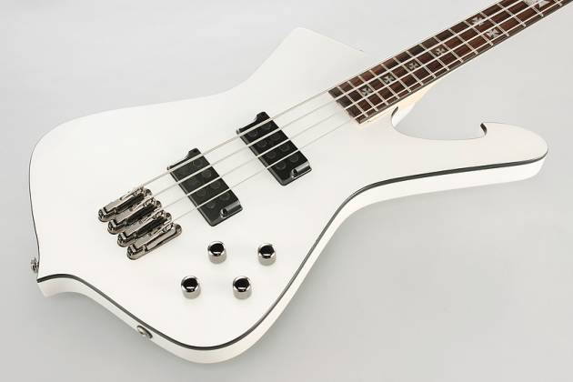 Ibanez SDB3-PW-d Sharlee D'Angelo Signature 4 String Solid Body Bass in Pearl White (discontinued clearance)  (Prior Year Model) Product Image 4