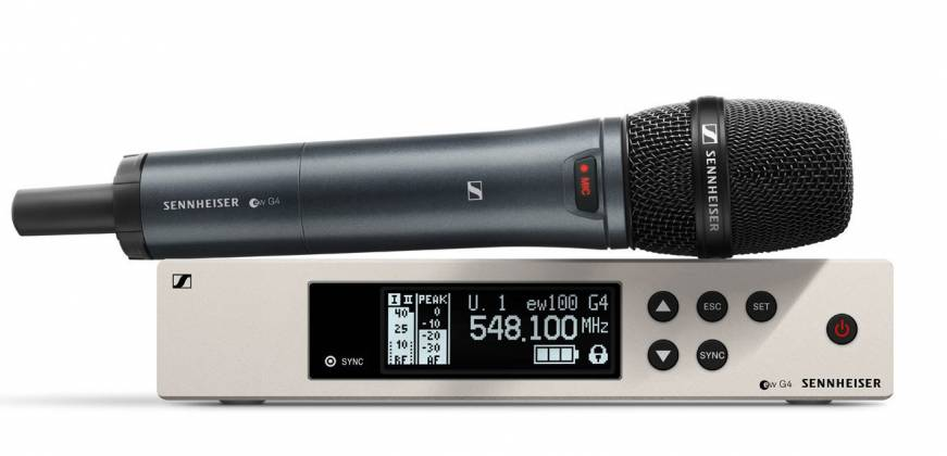 Sennheiser EW100-G 4 945 S A 1 Wireless Handheld Microphone System A1 (470 - 516 MHz) Product Image 2