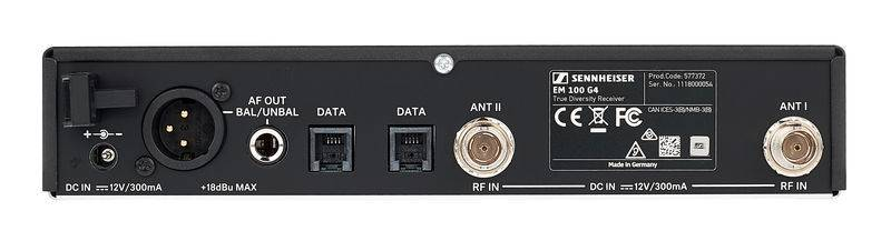 Sennheiser EW100-G 4 945 S A 1 Wireless Handheld Microphone System A1 (470 - 516 MHz) Product Image 7