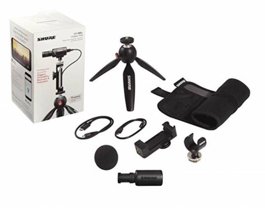 Shure MV88+ Video Kit Votiv Digital Stereo Condenser Microphone and Accessories for Smartphones Product Image 9