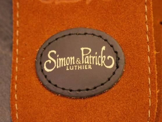 Simon & Patrick 037322 Rust Western Suede w/Patch Logo Guitar Strap Product Image 4