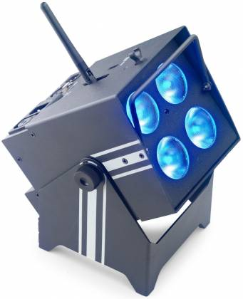 Stagg SLI-BAT48 Battery-Powered/Rechargeable RGBWAUV Par Light 4 x 8-Watt  (6 in 1) LED with Wireless DMX-NOT CSA APPROVED