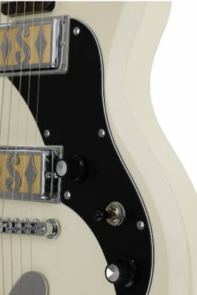 Supro 2020AW Island Series Westbury 6 String RH Electric Guitar in Antique White-Discontinued Clearance Product Image 7