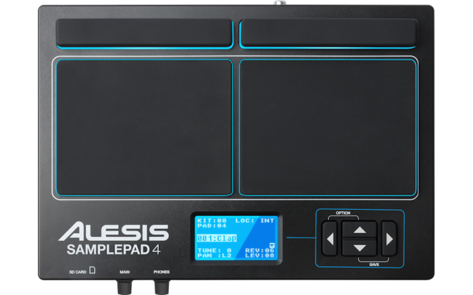 Alesis SamplePad 4 4-Pad Percussion and Sample-Triggering Instrument Product Image 2