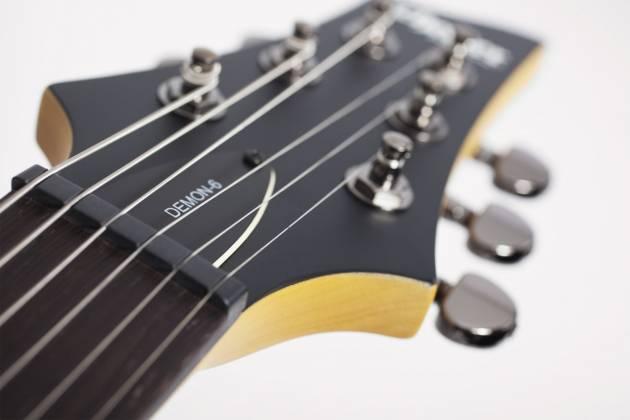 Schecter 3660-SHC Demon 6 Series 6 String RH Electric Guitar - Aged Black Satin 3660-shc Product Image 5