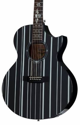Schecter 3700-SHC Synyster Gates-AC GA SC-6 String Acoustic Guitar - Black Product Image 3