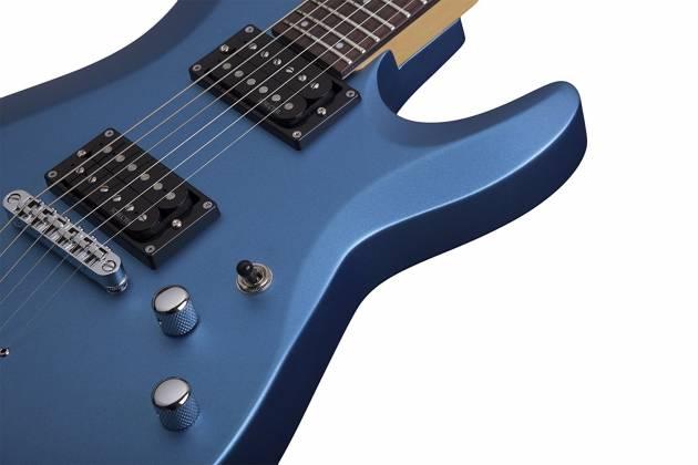 Schecter 431-SHC C-6 Deluxe Solid-Body 6 String RH Electric Guitar - Satin Metallic Light Blue 431-shc Product Image 5