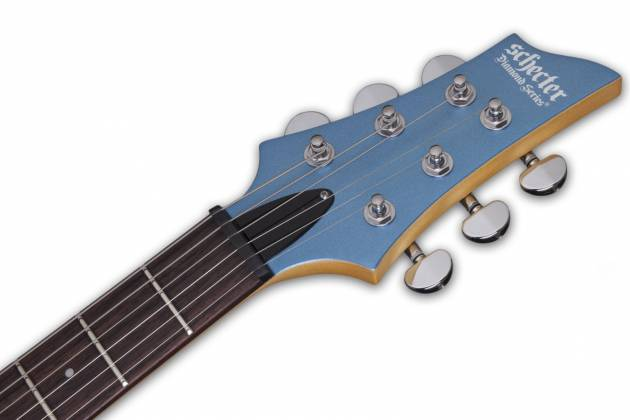 Schecter 431-SHC C-6 Deluxe Solid-Body 6 String RH Electric Guitar - Satin Metallic Light Blue 431-shc Product Image 8