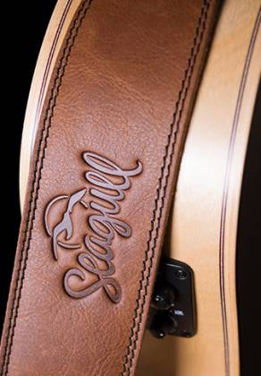 Seagull 042104 The Hollywood Series Cognac Guitar Strap Product Image 5