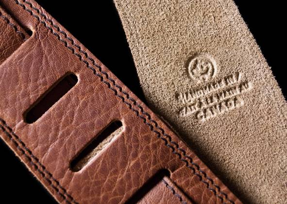 Seagull 042104 The Hollywood Series Cognac Guitar Strap Product Image 6