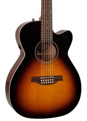 Seagull 042296 S12 Spruce Sunburst Concert Hall QIT 12 String RH Acoustic Electric Guitar Product Image 5