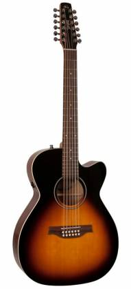 Seagull 042296 S12 Spruce Sunburst Concert Hall QIT 12 String RH Acoustic Electric Guitar Product Image 2
