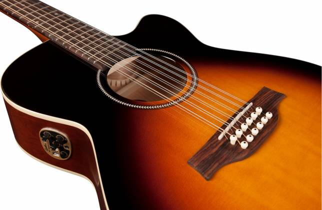 Seagull 042296 S12 Spruce Sunburst Concert Hall QIT 12 String RH Acoustic Electric Guitar Product Image 4