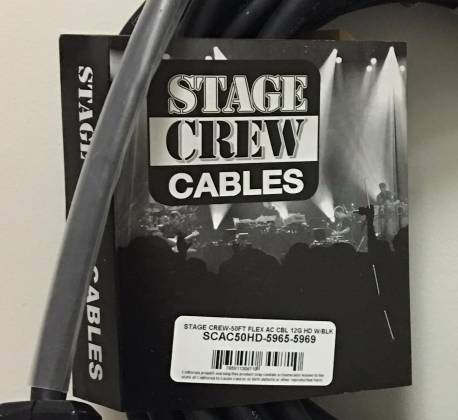 Stage Crew SCAC50HD-5965-5969 50 Foot Flex AC Power Cable 12G with Hubble U-Ground Product Image 3