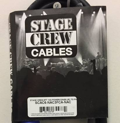 Stage Crew SCAC6-NAC3FCA-NAC3FCB 6 Foot 14G Powercon Blue to Powercon White  Product Image 3