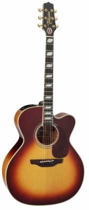 Takamine EF250-TK Pro Series Toby Keith Signature Jumbo 6 String RH Acoustic Electric Guitar with Hard Case-Sunburst Product Image 2