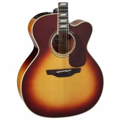 Takamine EF250-TK Pro Series Toby Keith Signature Jumbo 6 String RH Acoustic Electric Guitar with Hard Case-Sunburst Product Image 3