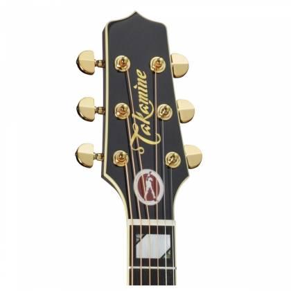 Takamine EF250-TK Pro Series Toby Keith Signature Jumbo 6 String RH Acoustic Electric Guitar with Hard Case-Sunburst Product Image 5