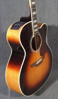 Takamine EF250-TK Pro Series Toby Keith Signature Jumbo 6 String RH Acoustic Electric Guitar with Hard Case-Sunburst Product Image 9