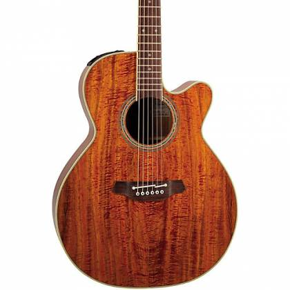 Takamine EF508-KC Legacy Series 6 String RH NEX Koa Acoustic Electric Guitar with Hard Case-Gloss Natural Product Image 4