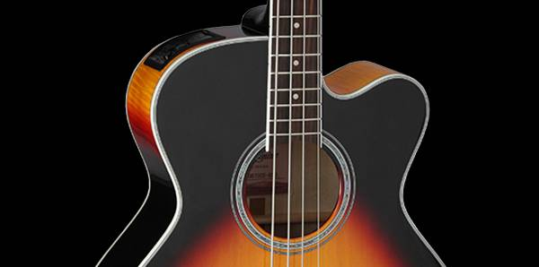 Takamine GB72-CE BSB G-Series Jumbo 4-String RH Acoustic-Electric Bass Guitar-Brown Sunburst Product Image 7