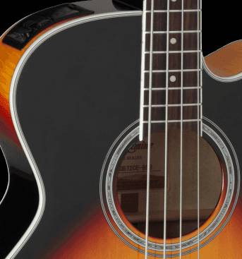 Takamine GB72-CE BSB G-Series Jumbo 4-String RH Acoustic-Electric Bass Guitar-Brown Sunburst Product Image 9