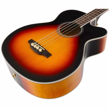 Takamine GB72-CE BSB G-Series Jumbo 4-String RH Acoustic-Electric Bass Guitar-Brown Sunburst Product Image 6