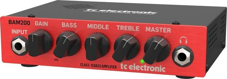 TC Electronic BAM200 Ultra-Compact 200 Watt Bass Head with Class-D Amp Technology  Product Image 4