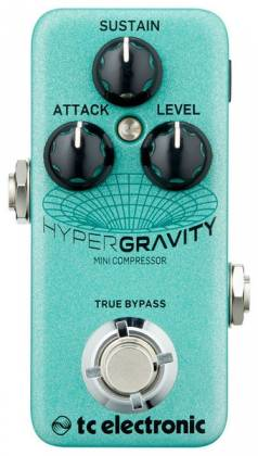TC Electronic HYPER G COMP MINI HyperGravity Mini Compressor Guitar Effects Pedal hyper-g-comp-mini Product Image 2