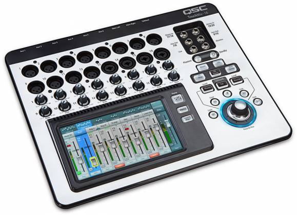 QSC Audio TOUCHMIX-16 16-Channel Digital Mixer with Touch Screen and Carrying Case Product Image 2