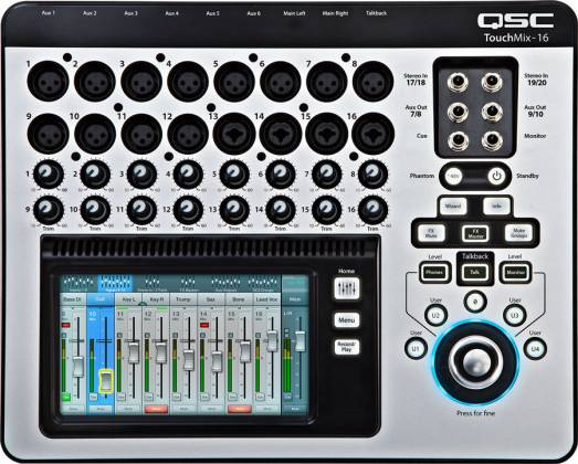 QSC Audio TOUCHMIX-16 16-Channel Digital Mixer with Touch Screen and Carrying Case Product Image 3