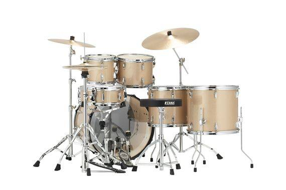 tama ip62 h 6 n chm imperialstar 6 piece drum set with hardware and cymbals champagne mist. Black Bedroom Furniture Sets. Home Design Ideas