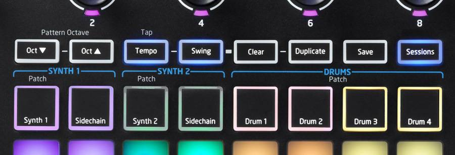 Novation Circuit Polysynth and Four Part Electronic Drum Machine
