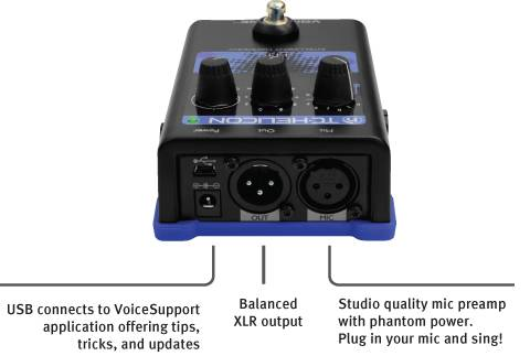 TC Helicon VOICETONE H1 Intelligent Harmony Pedal voice-tone-h-1 Product Image 5