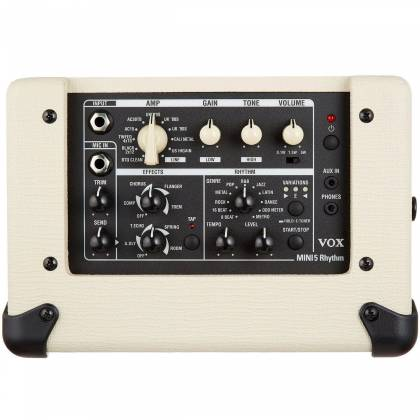 Vox MINI5-RM-IV Ivory 5W Battery Powered Busking Guitar Combo Amplifier with Rhythms Product Image 4