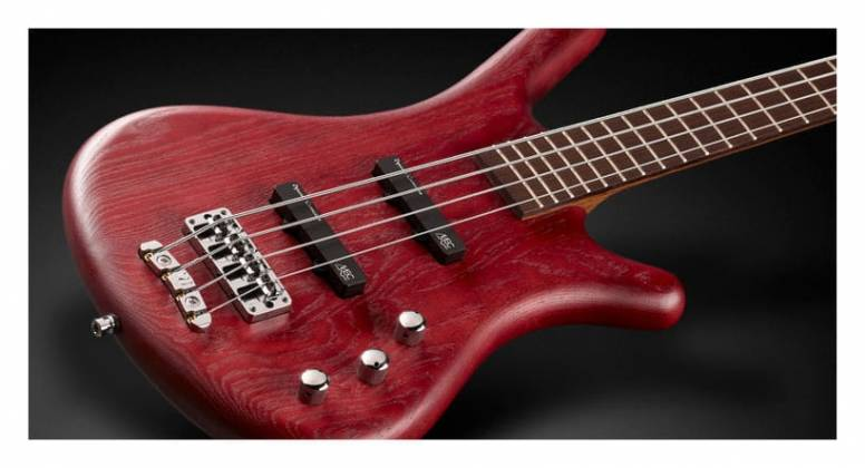 Warwick GPS124401 PPASHFR Teambuilt Pro Series Corvette Passive 4-String RH Electric Bass with Bag - Burgundy Red Product Image 4