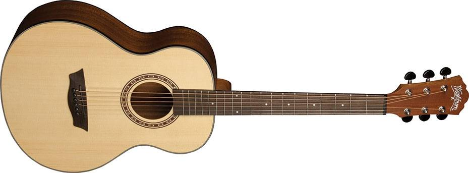 Washburn AGM5K-A Apprentice Series G-Mini 5 Style RH 6-String Acoustic Guitar with Gigbag Product Image 2