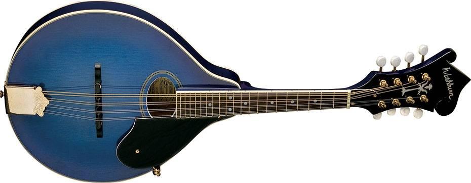 Washburn M1SDLTBL-A Americana Series A-Style Mandolin-Transparent Blue Product Image 3