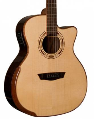 Washburn WCG25SCE-O Comfort Series Grand Auditorium Deluxe Cutaway 6-string RH Acoustic Electric Guitar-Natural Product Image 2